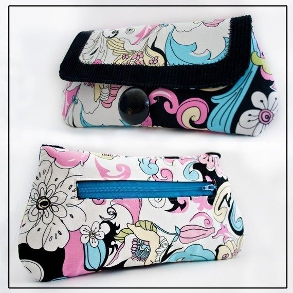The New Yorker Wristlet Clutch - PDF Sewing Pattern ⌇ How to Sew an Exposed Zipper