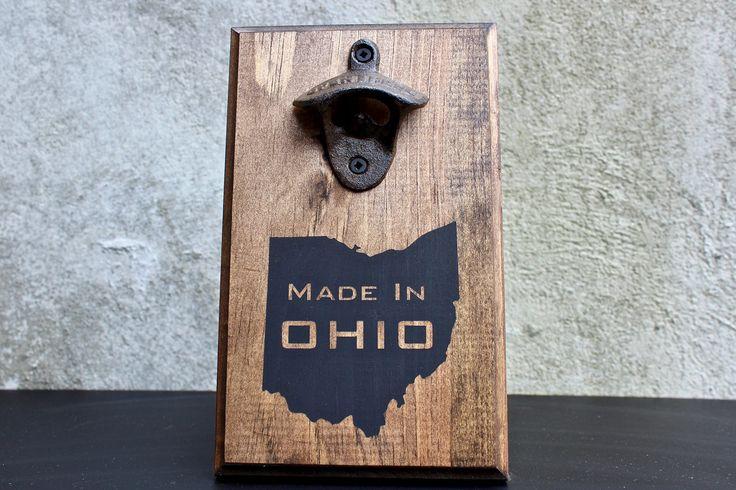 Made in Ohio Wall Mounted Bottle Opener