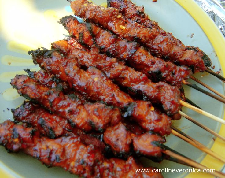 Sate Babi, pork, grill, bakar, main dish, indonesia