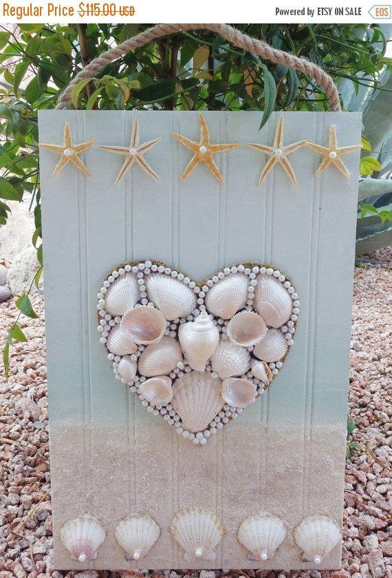 OP+VERKOOP+Seashell+hart++originele+strand+Decor++door+MidorisMyMuse