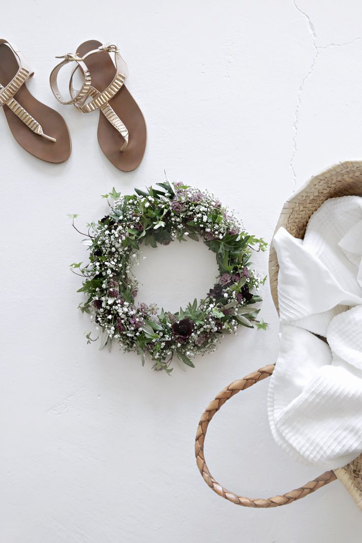 Midsummer floral head wreath | Stylizimo