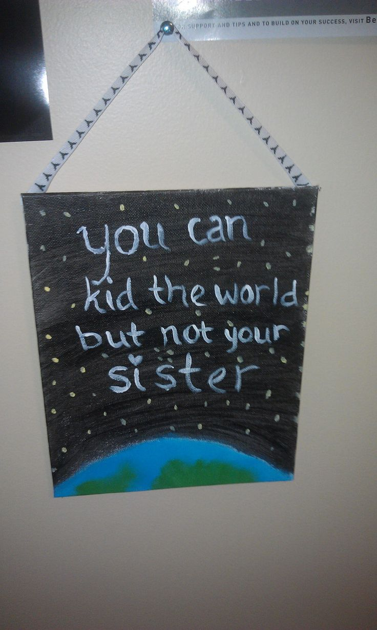 Items similar to Sister Quote Painting on Etsy