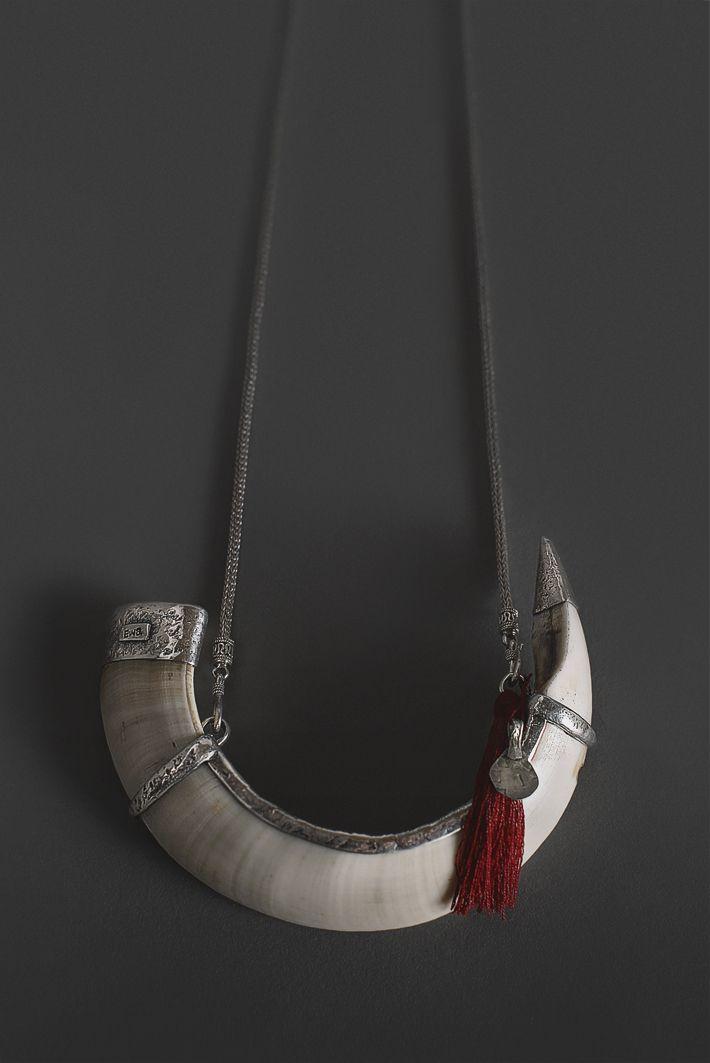 Ewa Tribal Jewelry Tusk Necklace Oceanic Art Papua New Guinea Art