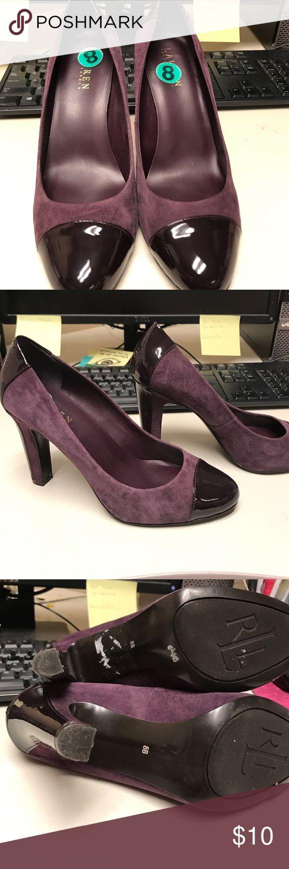 Ralph Lauren Purple heels size 8 Size 8 Purple Ralph Lauren heels , super cute shoes!!!!! About a 4 inch heel Lauren Ralph Lauren Shoes Heels