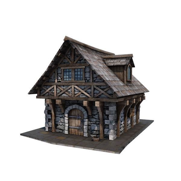 Medieval House 10 Game Ready 3d Model By Store Cgduck Pro