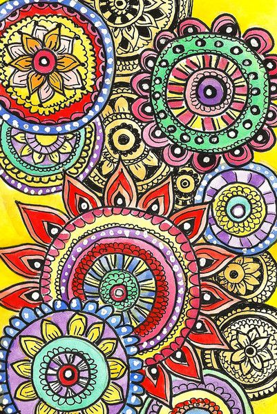 One of Alisa Burke's beautiful circle doodles. alisaburke.com