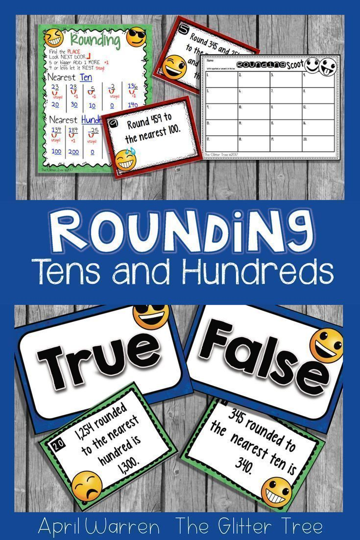 These 3rd Grade Emoji Rounding Task Cards And True Or False Sort Are A Great Way To Give Your Students Practice With Roun Math Task Cards Math Tasks Task Cards [ 1102 x 735 Pixel ]