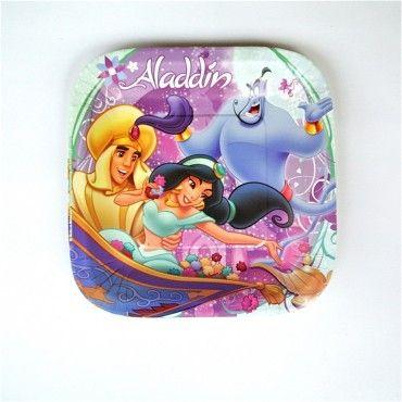 Platos Princesa Jazmin de la película Aladdin - Artículos de Fiesta