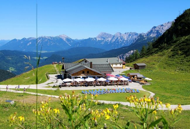 Summer is coming in Bavarian Alps - Hochalm in Garmisch-Partenkirchen/Grainau.