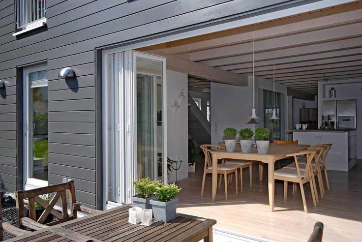 Durchgehender Ess- und Küchenbereich mit Öffnung zur Terrasse – aubenkuche.todaypin.com