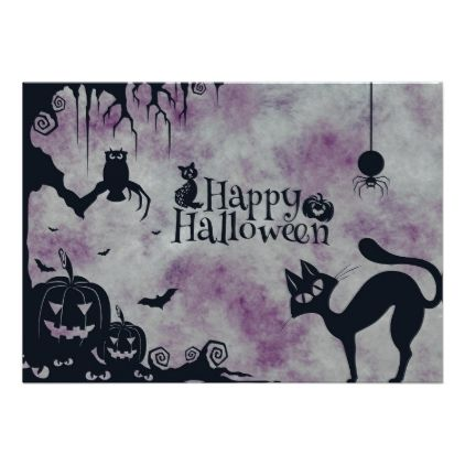 #Happy Halloween Card - #Halloween #happyhalloween #festival #party #holiday