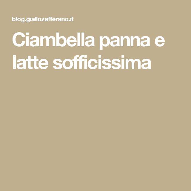 Ciambella panna e latte sofficissima
