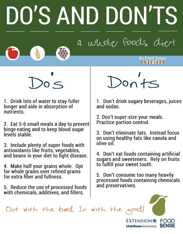 Some simple Do's and Dont's when it comes to eating. Follow these and you'll be well on your way.