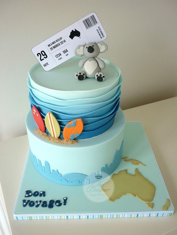 Now this is an Australia cake!