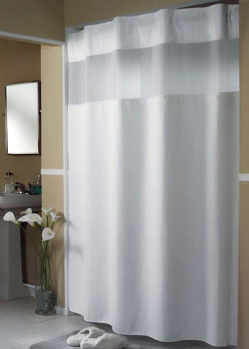 "Mini+Waffle+-+71""+x+77""+-+Hookless+Shower+Curtain+w/+Liner"