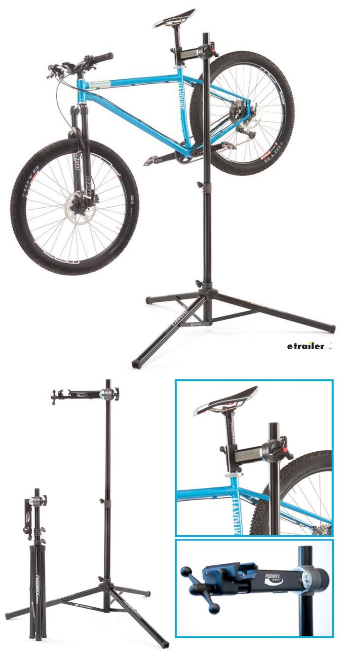 Bike mechanic work and wash bike stand  Clamp securely elevates and holds bike  360-Degree rotating clamp design Stable tripod design