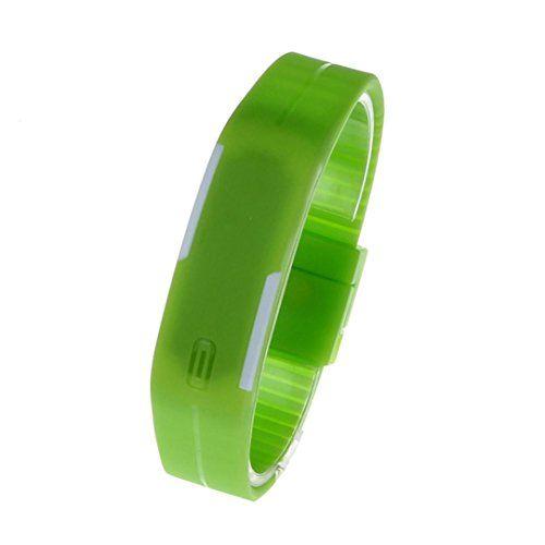 Generic® Ultra Thin Silikon-Digital LED Sports Armband-Armbanduhr (Grün) - http://on-line-kaufen.de/generic/gruen-generic-ultra-thin-silikon-digital-led-blau