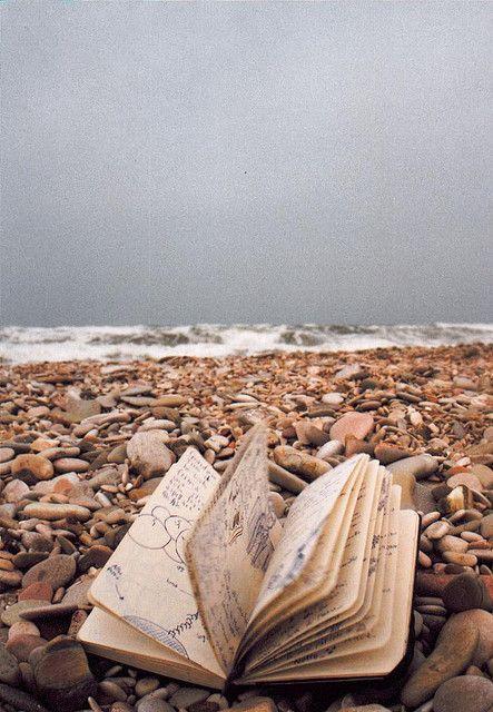#sea #book #beack #rocks #mood #old #atmosherically