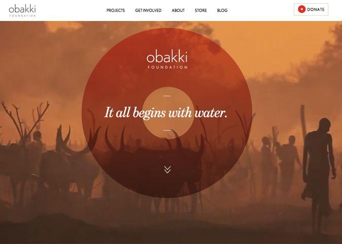 Obakki Foundation #webdesign #inspiration #UI