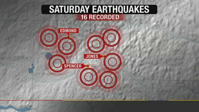 Oklahoma Geological Survey Records 16 Quakes Around OKC