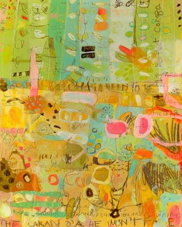 """""""Paint, Draw, Scribble"""" Stretched Canvas Art by Jennifer Mercede for GreenBox Art + Culture"""