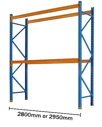 Pallet Racking Used 2438mm High - Ground plus 2 beam levels