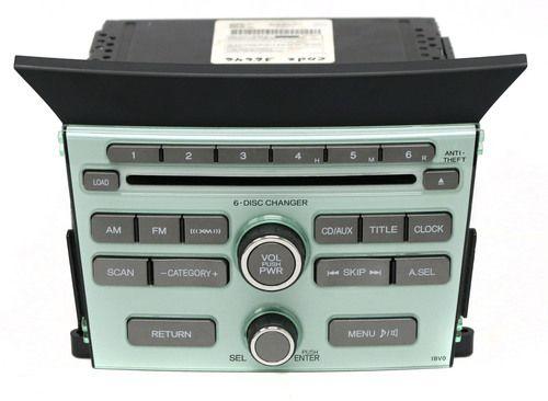 2009-2011 Honda Pilot AM FM Satellite Radio mp3 6 Disc CD 39100-SZA-A210 - 1BV0