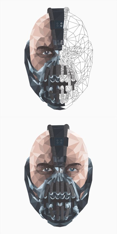 Art Design of Bane, The Dark Knight Rises #art #design #bane #dark #knight