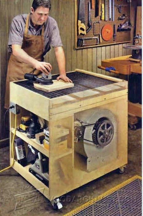 Dust-Free Downdraft Sanding Table Plans - Sanding Tips, Jigs and Techniques - Woodwork, Woodworking, Woodworking Tips, Woodworking Techniques