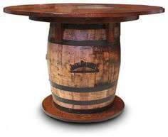 Gallery Furniture USA Whiskey Barrel Pub Table rustic dining tables