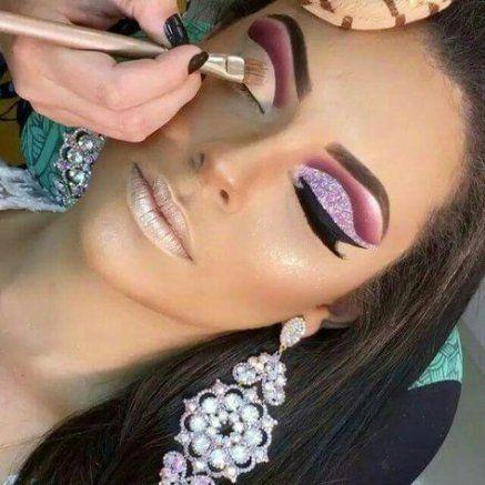 Makeup Glitter Glam Cut Crease 28+ Ideas #makeup