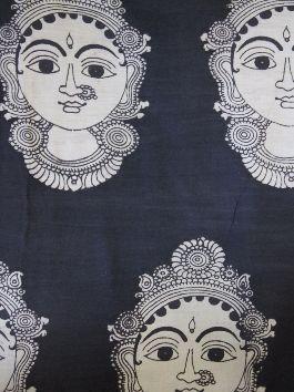 Buy Faces - hand painted Kalamkari Fabric