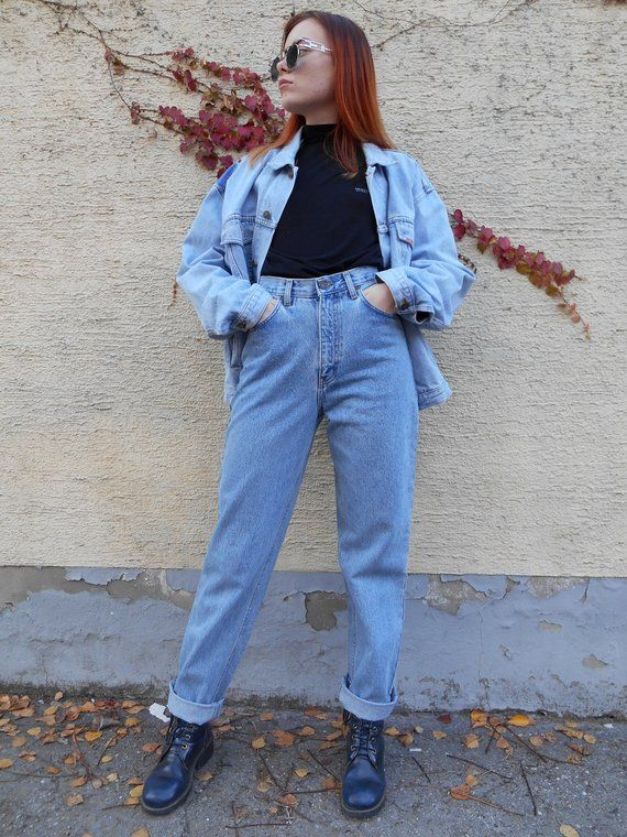 Vtg High Waisted Jeans   Hippie Jeans   Retro Jeans   Mom Jeans   Boyfriend  Jeans   Hipster Jeans   e7b0031c35922