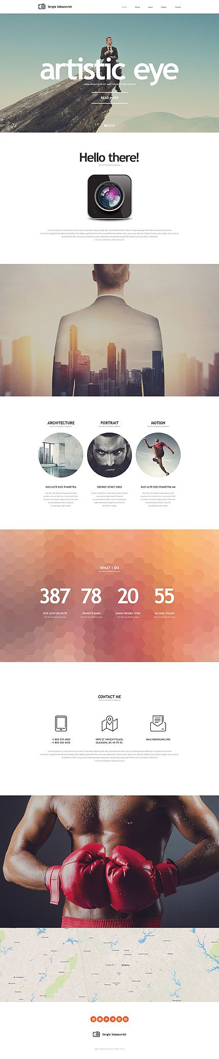 Photographer's Personal Portfolio #website #template. #themes #business…
