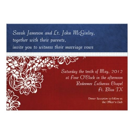 17 Best Images About Military And Patriotic Themed Wedding Invitations On Pinterest