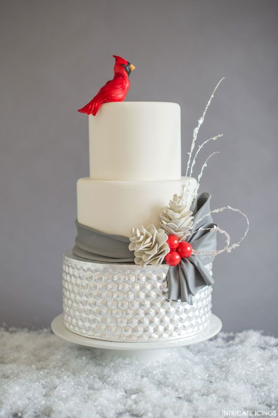 Inspired by Christmas Mantles | The 4th Cake of Christmas by Intricate Icings #12CakesOfChristmas