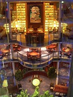 Celebrity Solstice library - such an amazing ship. Can't wait to go again to Alaska this time - in 2013 with @Barbara Williams, @Becky J. Anderson, @Molly Fulkerson, @Lori Anderson, and EVERYONE else that earns it!!!