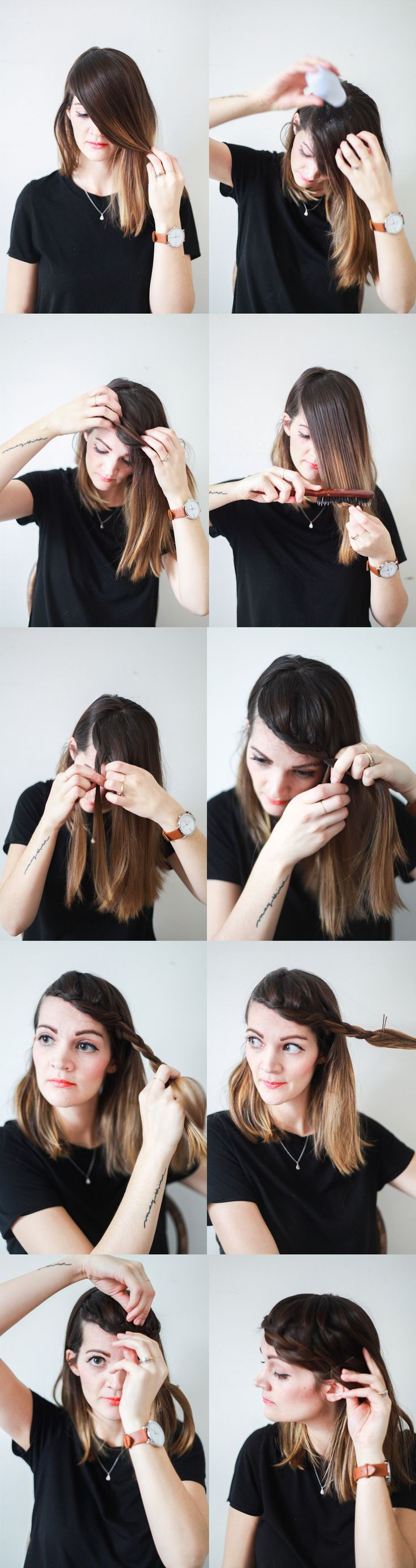 Fringe Braid // Hair Tutorial — Treasures & Travels