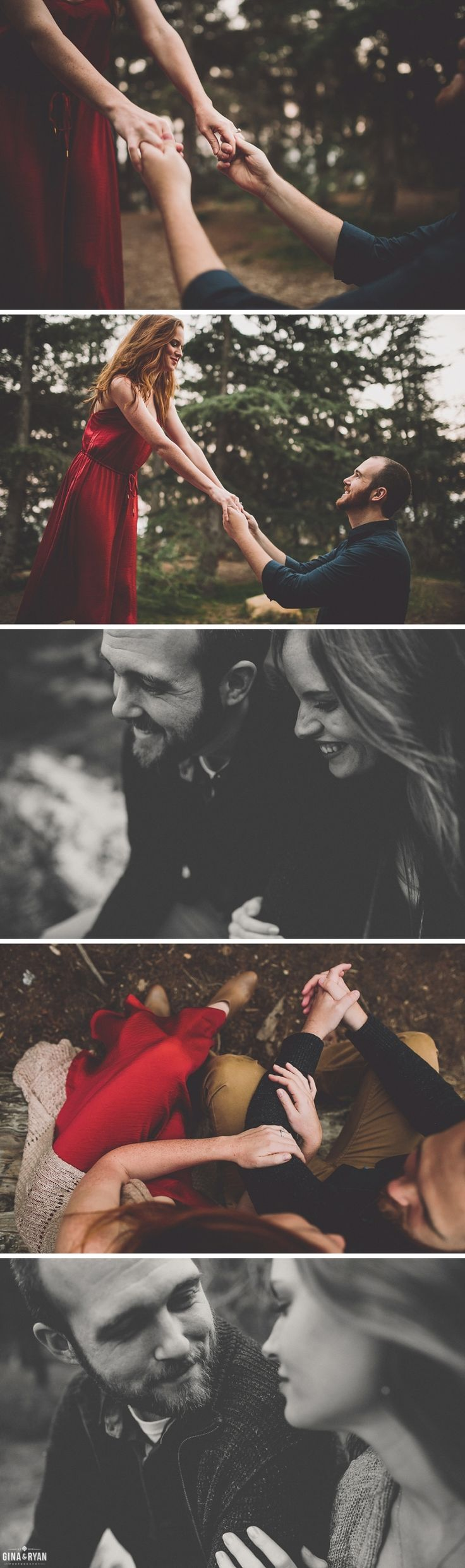 Forest Engagement Photos Los Angeles