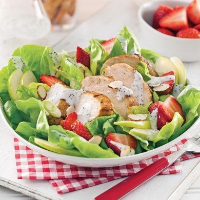 Salade estivale au poulet grillé - Recettes - Cuisine et nutrition - Pratico Pratique
