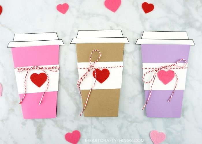 Mother S Day Coffee Card Template Diy Gifts For Mom Diy Mother S Day Crafts Kindergarten Valentine Crafts