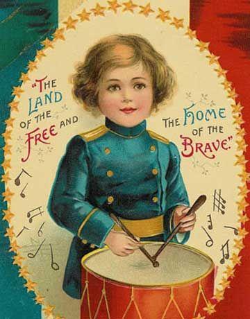 Free Printable Victorian postcard/patriotic craft @CountryLiving Magazine