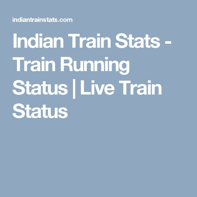 Indian Train Stats - Train Running Status | Live Train Status