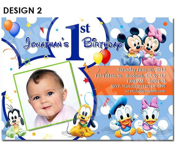 35 best Keatons First Birthday images – Disney Invitations Birthday