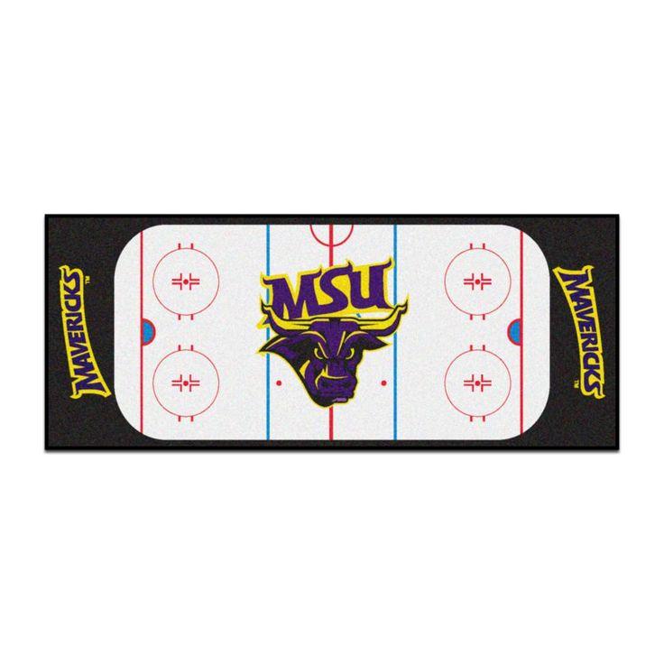 Ncaa - Minnesota State University - Mankato White 2 ft. 6 in. x 6 ft. Indoor Hockey Rink Runner Rug