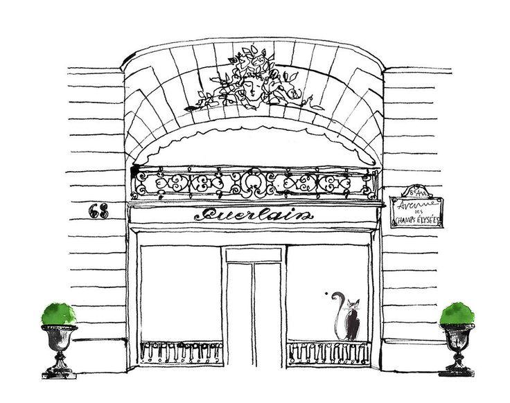 Illustrator Lovisa Burfitt  www.auraphotoagency.com Guerlain Champs Elysees 2012