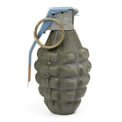 U.S. WWII Mk 2 Cast Iron Pineapple Grenade