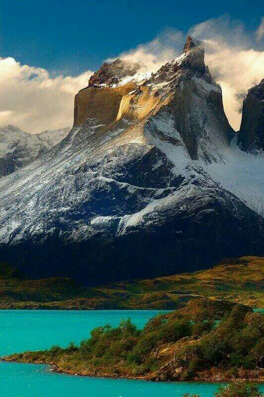 Torres del Paine, Patagonia, Chile - the water in this picture is unbelievable!