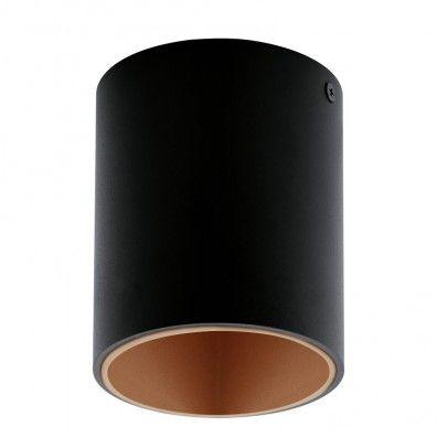 EGLO POLASSO LED Aufbauleuchte, rund, 100mm, schwarz, kupfer