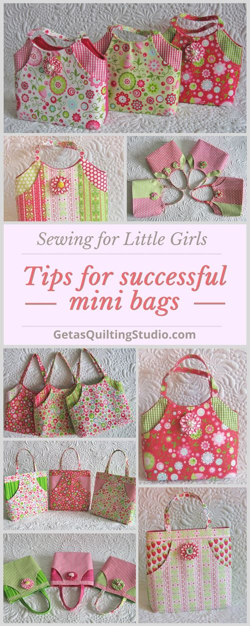 Sewing successful mini bags for little girls. Click through to find out a few tips. via @getagrama